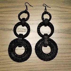 BCBG dangle hoop earrings